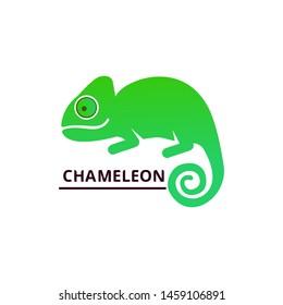 Chameleon Logo design. Creative vector concept.