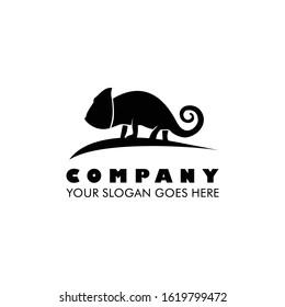 Chameleon logo icon vector illustration