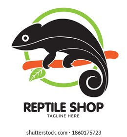 Chameleon logo, perfect for Reptile Shop, pet shop logo