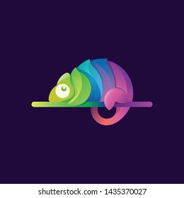 chameleon modern illustration logo vector