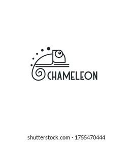 chameleon template logo design inspiration. chameleon monoline concepts Quality symbol icon vector illustration
