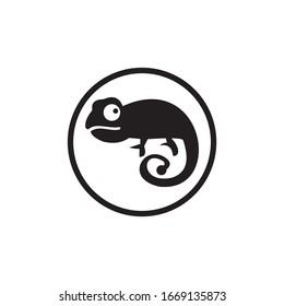 Chameleon vector icon illustration symbol