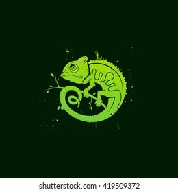 Chameleon / Vector illustration