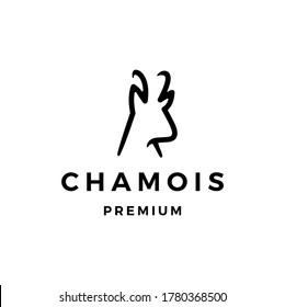 chamois logo vector icon illustration