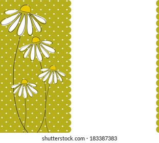 Chamomile invitation card template