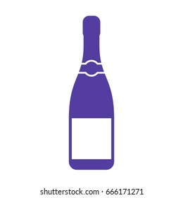 Champagne bottle vector icon