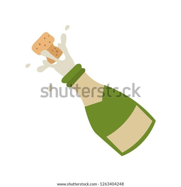 Champagne Emoji Vector Stock Vector (Royalty Free) 1263404248
