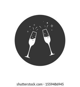 Champagne glass icon. Vector illustration