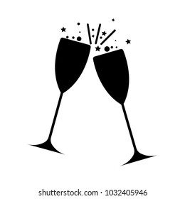champagne glass vector icon for web and mobile . alcohol