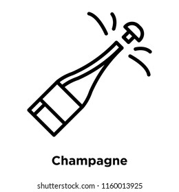 Champagne icon vector isolated on white background, Champagne transparent sign , line or linear sign, element design in outline style