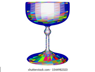champagne saucer. abstract glass isolated on white