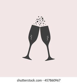 Champagne web icon. Isolated illustration