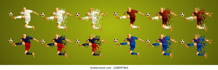 Champion league group G, Football, Soccer players colorful uniforms, 4 teams, vector illustration, set 2/8, Real, Roma, CSKA, Viktoria