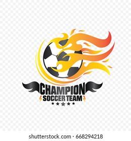 Champion Soccer Team Logo Vector
