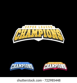Champion sports league logo emblem badge graphic typography