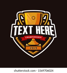 Champion Trophy Mascot Logo Design