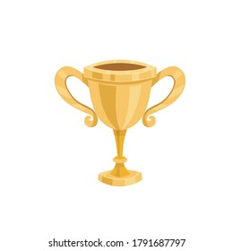 Champion winner Cup. Trophy icon vector flat illustration Cup trophy icon design isolated on white background. Vectorn illustration
