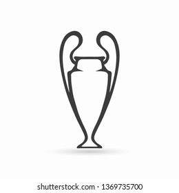 Champions League Cup. Champions cup. Football cup icon. Vector illustration. EPS 10.