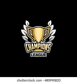 Champion logo images stock photos vectors shutterstock champions league emblem logo icon badge gold cup with inscriptions champions league altavistaventures Gallery