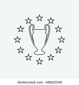 champions league logo images stock photos vectors shutterstock https www shutterstock com image vector champions league icon vector 690623140