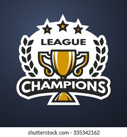 Champions League Sports logo, emblem, badge.