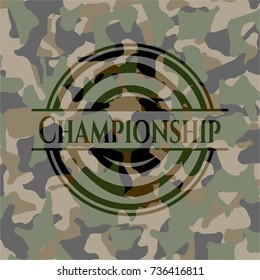 Championship on camouflage texture