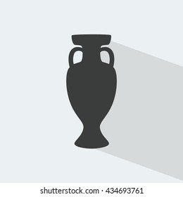 Championship soccer trophy cup, winner cup icon. Football trophy cup with shadow. Trophy cup icon, Award icon, Trophy banner, Win icon, Prize Win Sport Vector SPORT. For Art, Print, Web design