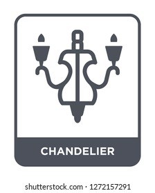 chandelier icon vector on white background, chandelier trendy filled icons from Furniture collection, chandelier simple element illustration
