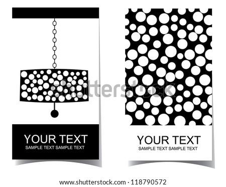 Chandelier Interior Design Business Card Set Stock Vector Royalty