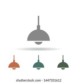 Chandelier Vector icon . Lorem Ipsum Illustration design