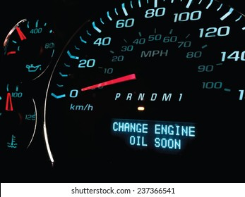 Change oil soon warning light on dashboard