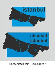 channel istanbul project istanbul map vector art