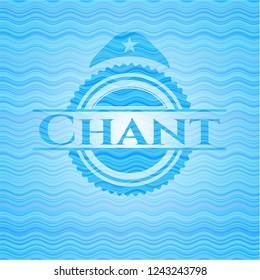 Chant water wave representation emblem.
