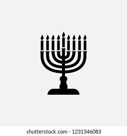 Chanukah icon. Chanukkah symbol. Flat design. Stock - Vector illustration