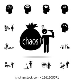 chaos in the head icon. Detailed set of chaos element icons. Premium graphic design. One of the collection icons for websites, web design