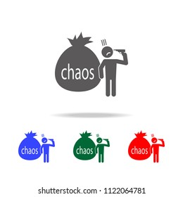 chaos in the head icon. Elements of psychological disorder in multi colored icons. Premium quality graphic design icon. Simple icon for websites, web design, mobile app on white background