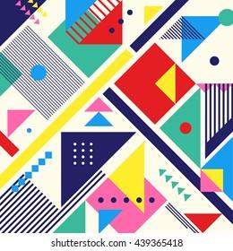 Chaotic geometry composition. Minimal futuristic design. Eps10 vector.