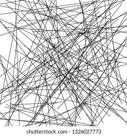 Chaotic Lines, Random Chaotic Lines, Scattered Lines, Random Chaotic Lines Asymmetrical Texture Vector Art Illustration