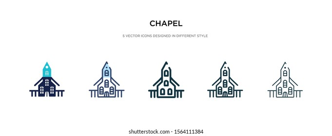 chapel icon in different style vector illustration. two colored and black chapel vector icons designed in filled, outline, line and stroke style can be used for web, mobile, ui