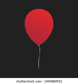 It chapter one Red balloon vector symbol isolated on transparent background