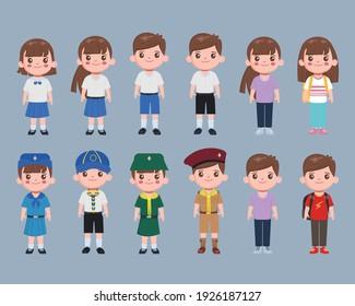 Character animation student in Bangkok Thailand uniform.