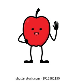 character apple, mascot apple, red apple