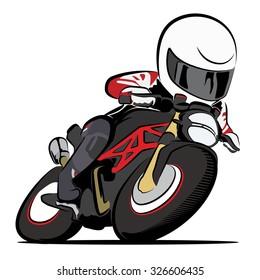 character biker racing