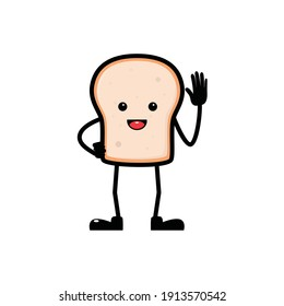 character bread mascot with white background