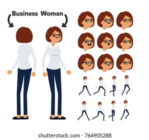 Character is a business woman. The character is ready for animation. Walk Animation.