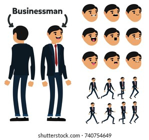 Character is a businessman. The character is ready for animation. Walk Animation.