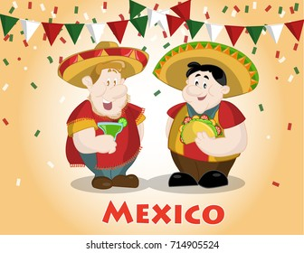 character design celebrating the traditional Mexican holidays