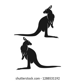 the character design of the kangaroo is facing back