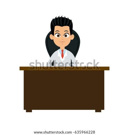 Astonishing Character Doctor Sitting Desk Chair Stock Vector Royalty Creativecarmelina Interior Chair Design Creativecarmelinacom