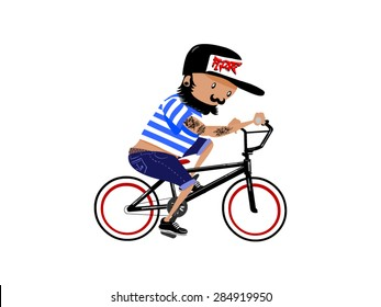 Character guy bmx rider